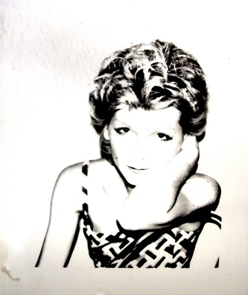 Andy Warhol, Marina Ferrero, serie Ladies and Gentleman, 1974, acetate, cm 36,5x32, inedito