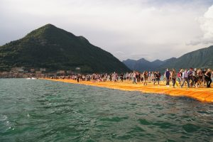 The Floating Piers, Lake Iseo, Italy, 2014-16 Photo: Wolfgang Volz  © 2016 Christo