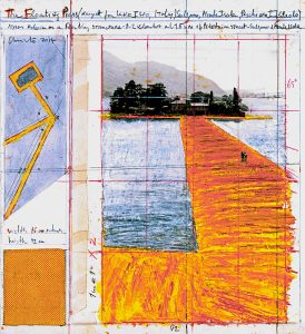 Progetto per The Floating Piers. Foto André Grossmann. © 2014 Christo