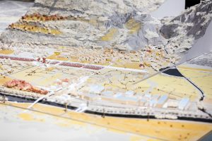 Horizontal Metropolis Valais - Rethinking the Alpine City-Territory. Model, scale 1:877 detail. Photo © Olivier Christinat / Archizoom