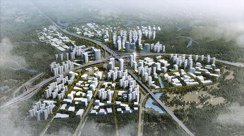 Masterplan Shenzhen Progetto CMR - bird view